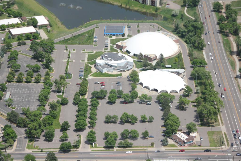 Aerial view of Mile Hi Church, Denver
